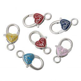 Stora klolås med hjärtan till dina smycken