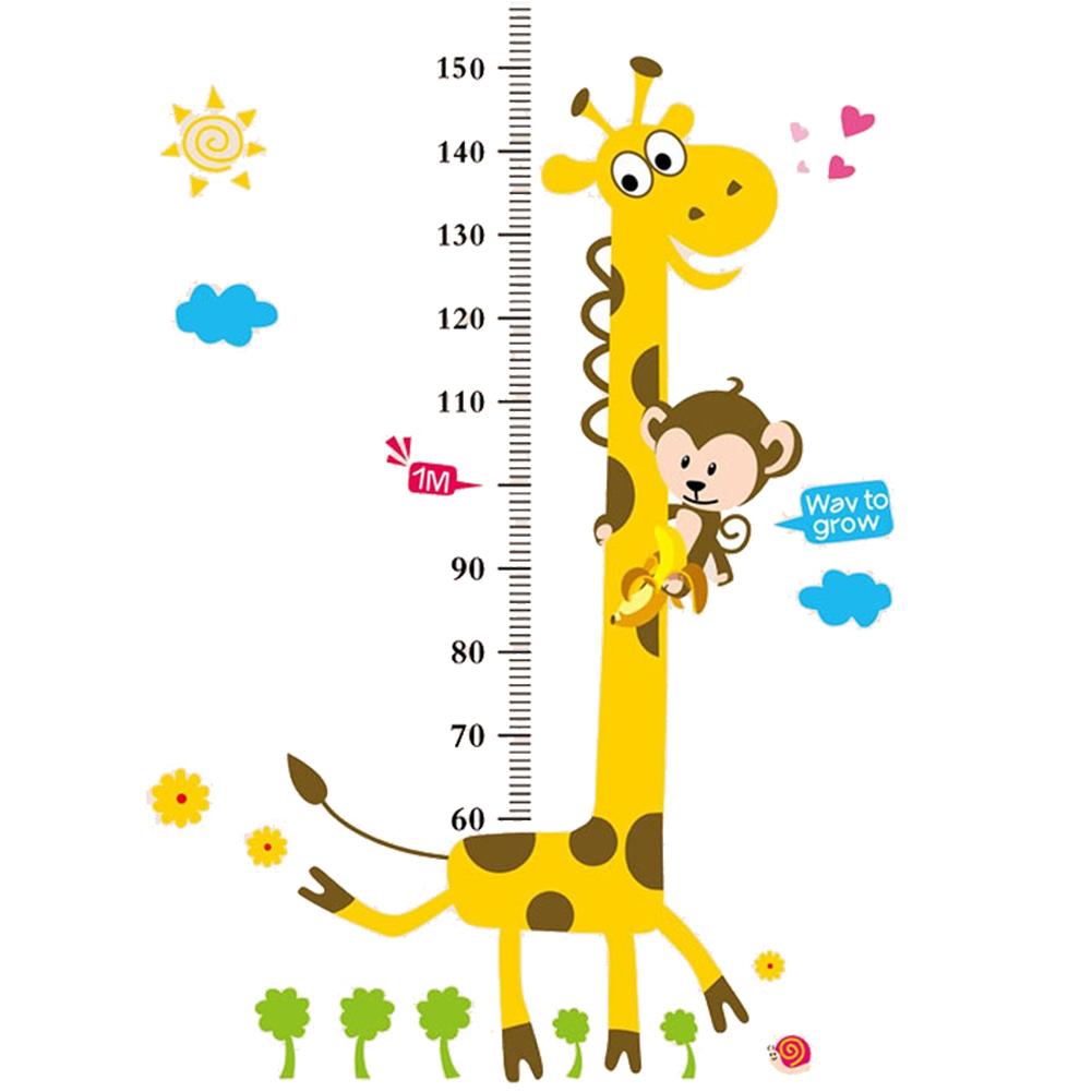 Väggdekor Mätsticka giraff
