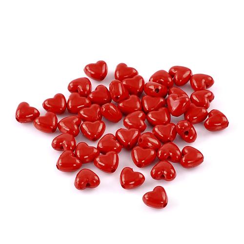 Billiga pärlor röda hjärtan