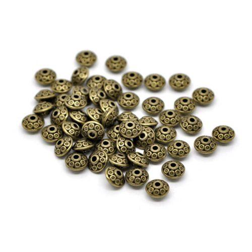 Metallpärlor i brons färg
