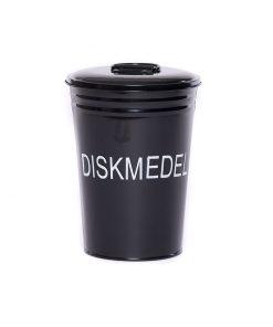 Svart förvaringsburk för diskmedel