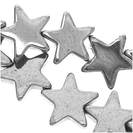 Pärlor stjärnor silver färg