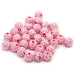 Rosa pärlor med strass
