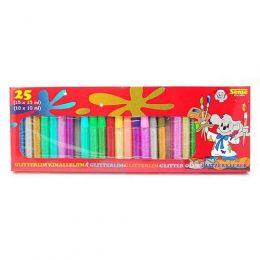 Glitterlim i 25-pack med härliga färger