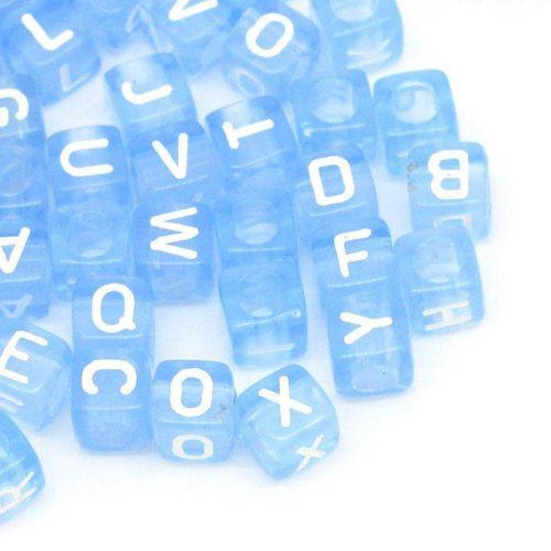Fina blåa bokstavspärlor