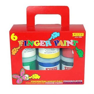 Fingerfärg i förpackning