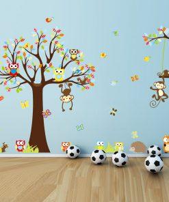 Väggdekor barn - Träd 150x234cm