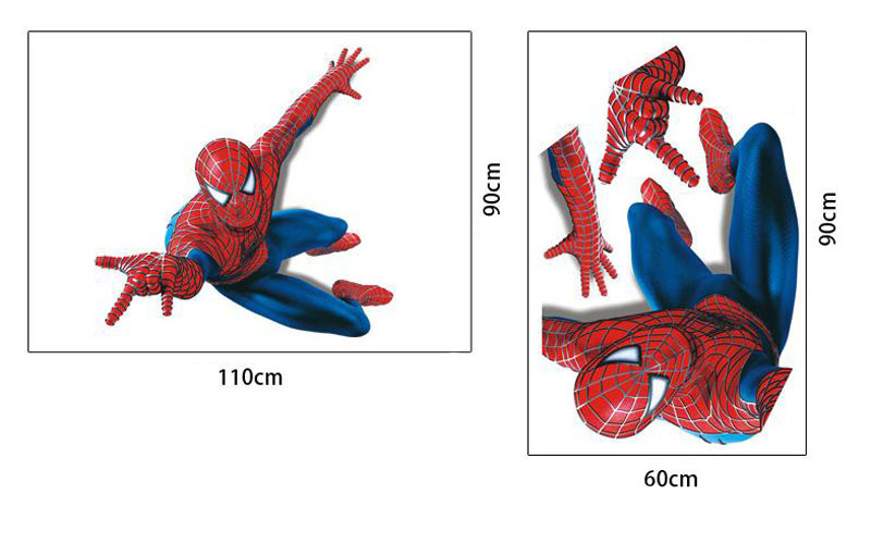 Väggdekor Spiderman med mått