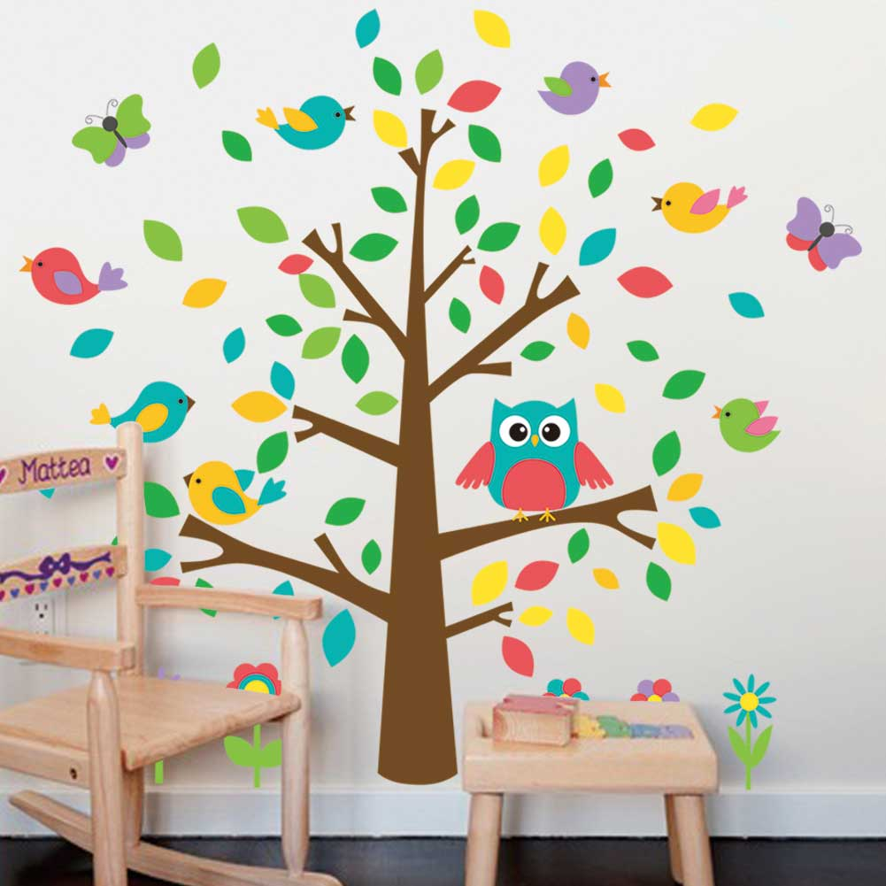 V ggdekor tr d med s ta f glar till barn v ggdekor - Ideas para pintar habitaciones ...