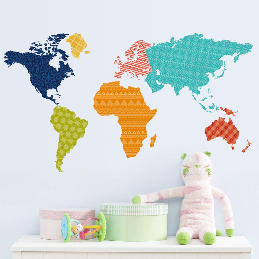 Väggdekor - Världskarta