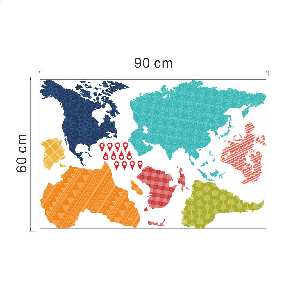 Väggdekor - Världskarta ark