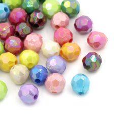 Billiga runda facetterade pärlor