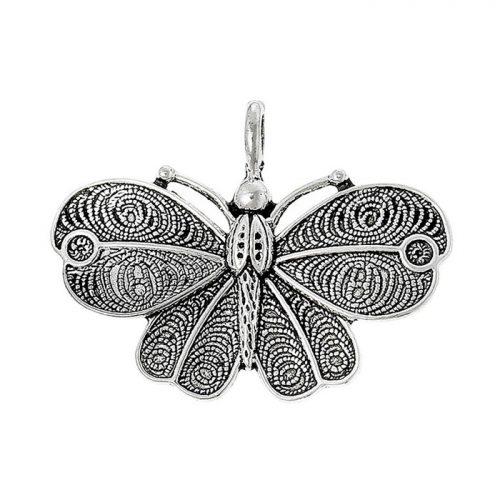 Fjäril berlock i antik silver