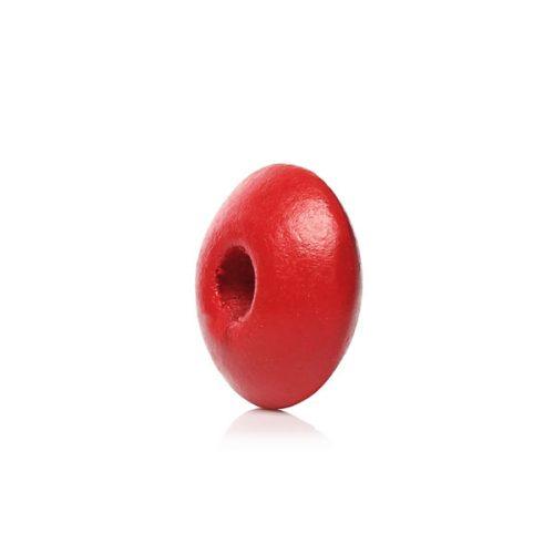 Röda pärlor av trä 10mm