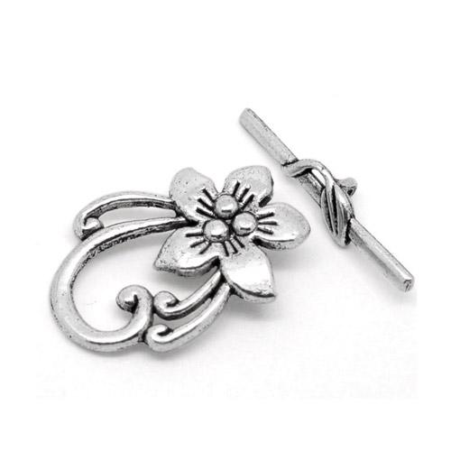Togglelås - Smyckeslås blomma