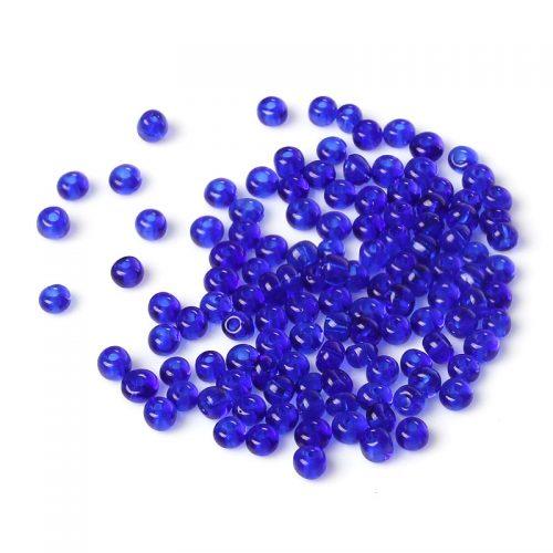 Blå glaspärlor - Seed beads