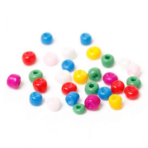 Seed beads - Glaspärlor blandade färger 3mm