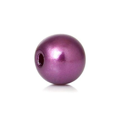 Lila pärlor med pärlimitation 8mm 300 stycken