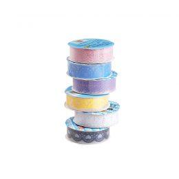 Spets Washi tape i olika färger och mönster
