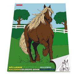 Målarbok med hästar