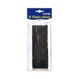 Elastiskt tråd/snodd 25 meter- 1mm - svart