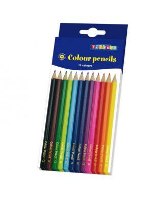 12 stycken smala färgpennor