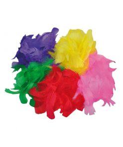 Fjädrar 200 st blandade färger