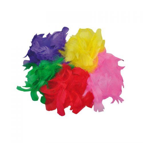 200 st fjädrar i blandade färger