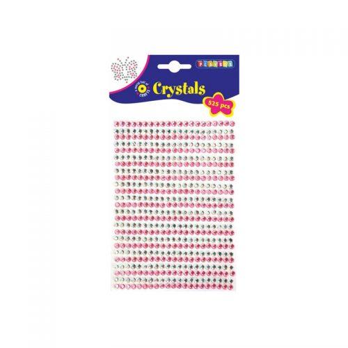 Kristallstenar rosa & silver 525 st