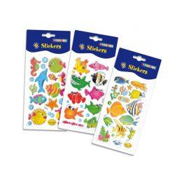 Puffy klistermärken / stickers - fiskar
