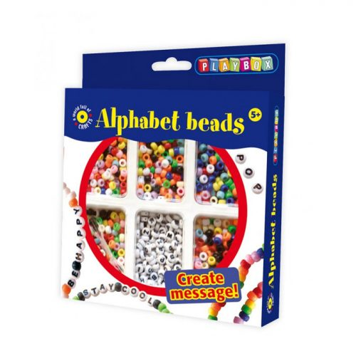Pysselset alphabet - bokstavspärlor från Playbox