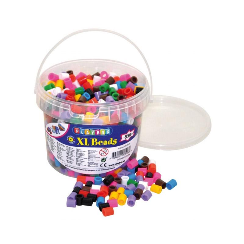 XL-pärlor 950 st i 10 olika färger