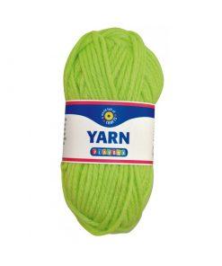 Akrylgarn ljusgrön / lime 50g från playbox