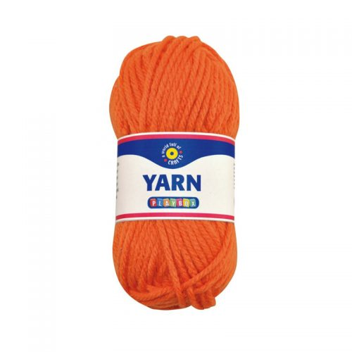 Akrylgarn orange 50g från playbox