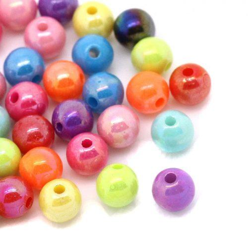 250 st pärlor med pärl lyster 6 mm