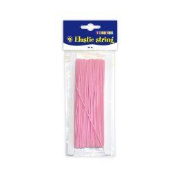 Elastiskt tråd / snodd rosa 25 meter