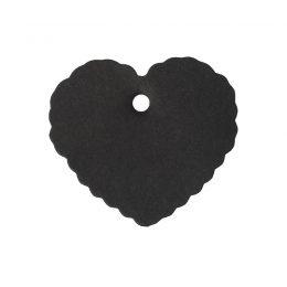 25 st tags/etiketter i form av hjärta - svart