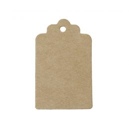 25 st rektangulära etiketter / tags brun