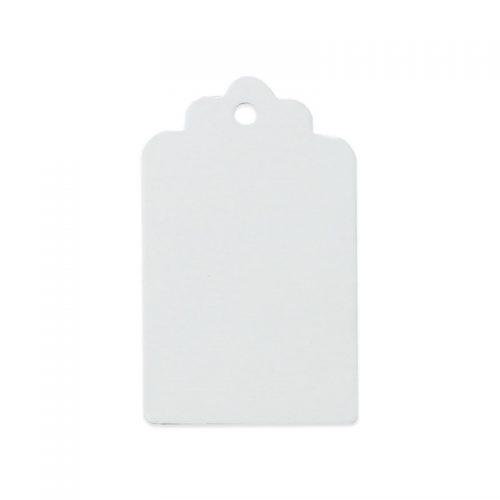 25 st rektangulära etiketter / tags vit
