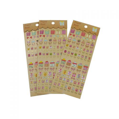 Stickers presenter kalas metallic