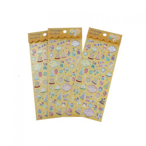 2 st metallic stickers perfekta för kalasinbjudan