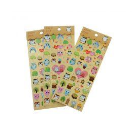 Stickers ugglor - metallic