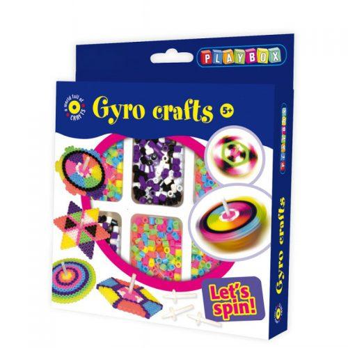 Pärlset Gyro med snurrpinnar och plattor.