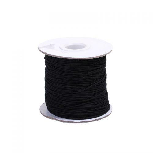 Elastiskt tråd/snodd 100 meter 0,8 mm - svart