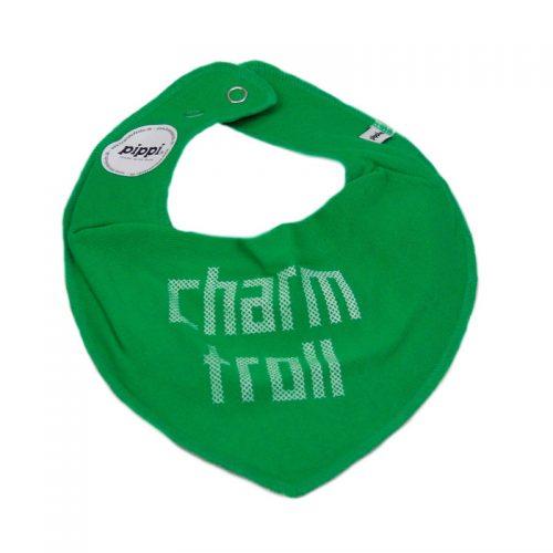 Charmtroll - haklapp - grön