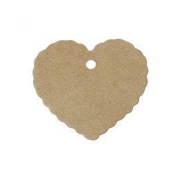 Bruna hjärtformade etiketter