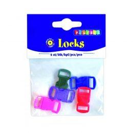 Plarspännen / lås i 5 olika färger