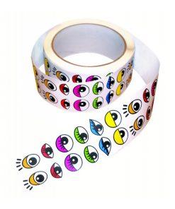 Stickers på rulle ögon blandade färger