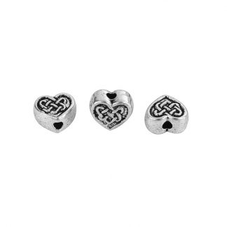 Hjärtformade metallpärlor 50 sycken