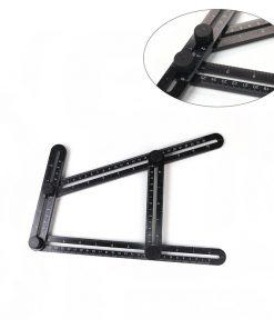 Vinkelverktyg / Mätverktyg / vinkelmätare svart i plast